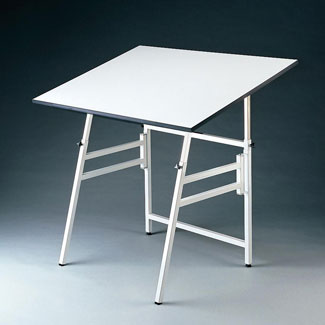 Alvin Professional Quality Portable Drafting Table 24 X36 W White Base X 4 Xb