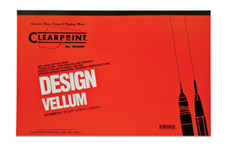 "Clearprint 16lb Vellum Tablets 11""x17"" 50 Sheets (1000HP)"