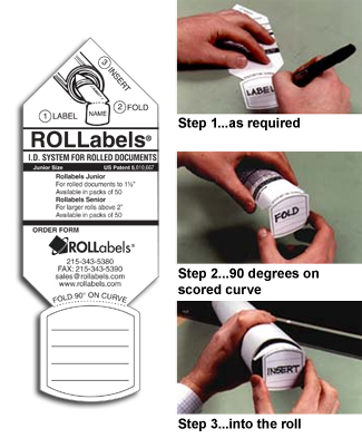 "Rollabels Junior Identification Tags 1.5"" White 50/pk (JRWH)"