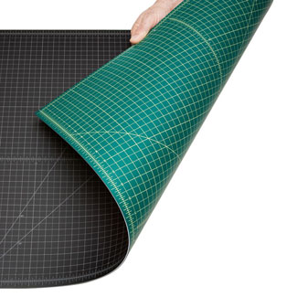 "Alvin Professional Cutting Mat 48""x96"" Black/Green (GBM4896)"