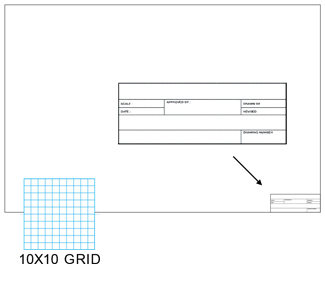 Clearprint 1000hts 10 16lb Drafting Vellum Non Repro 10x10 Grid 24 X36 With Hts Title Block 100 Pack 10223528