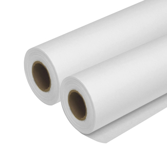 "Seth Cole 8lb 14""x50yds White (55W) Sketch Paper Roll 1"" Core"