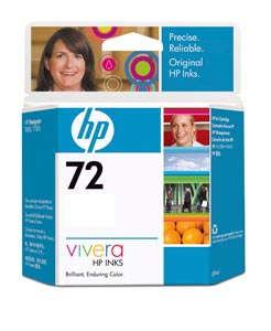 HP 72 Cyan  130ml Ink Cartridge (C9371A)