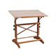 "Alvin Pavillon Pedestal Wood Drawing Table 24""x36"" Unf Top (AP436)"
