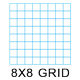 "Clearprint 16lb Vellum 8x8 Fade-Out Grid 8.5""x11"" 50 Sheet Pad (1000HP-8)"