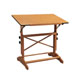 "Alvin Pavillon Pedestal Drawing Table 24""x36"" Wood Base (AP436-WBR)"