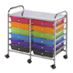 Alvin Blue Hills Studio Storage Cart 12-Drawer (Standard) Multi-Colored (SC12MCDW)