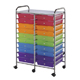Alvin Blue Hills Studio Storage Cart 20-Drawer (Standard) Multi-Colored (SC20MCDW)