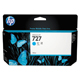 HP 727 Cyan 130ml Ink Cartridge (B3P19A)