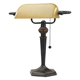 "Alera Traditional Banker's Lamp 16"" Amber Shade with Antique Bronze Base (LMP537BZ)"