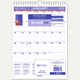 "AT-A-GLANCE  Monthly Wall Calendar with Ruled Daily Blocks 8""x11"" 2019 (PM12819)"