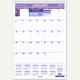 "AT-A-GLANCE  Monthly Wall Calendar with Ruled Daily Blocks 15-1/2""x22-3/4"" 2019 (PM32819)"