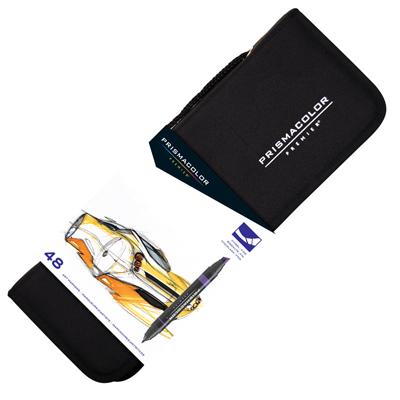 Prismacolor Premier Chisel Fine Tip Art Markers 48 Marker Set With Carrying Cases 98