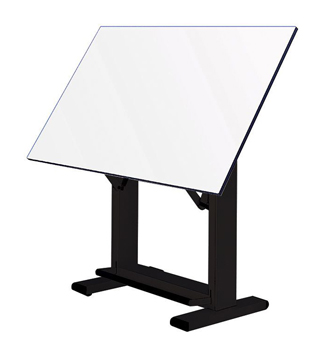 "Alvin Elite Table 36"" x 48"" White Top w/ Black Base (ET48-3)"