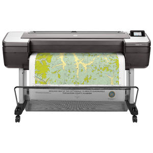 "HP Designjet T1700DR 44"" PostScript Dual-Roll Printer with Encrypted Hard Disk (1VD88AB1K)"
