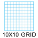 "Clearprint 1000HP-10 16lb Design Vellum 10x10 Fade-Out Grid Pad 11""x17"" 50 Sheets (10003416)"