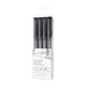 Copic Multiliner Black Fine 4 Pen Set (MLAFINE)