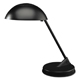 "LEDU Incandescent Lamp with Vented Dome Shade 18"" Matte Black (L563MB)"