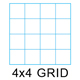 "Clearprint 1000HP-4 16lb Design Vellum 4x4 Fade-Out Grid Pad 18""x24"" 50 Sheets (10004422)"