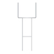 "ARC Galvanized Heavy Duty Yard ""H"" Stake For Coroplast Signs Up To 24""x36"""