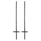"ARC Black Yard Stake Kit For Large Coroplast Signs Up To 30""X40"""