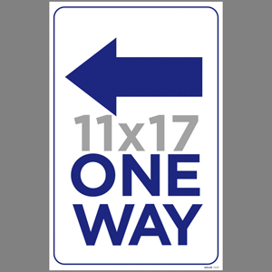 Blue One Way Left Arrow Poster English (EDU48)