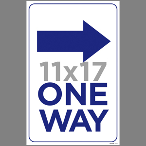 Blue One Way Right Arrow Poster English (EDU49)