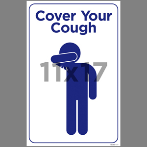Blue Cover Your Cough Poster English (EDU56)