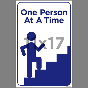 Blue One Person At A Time Poster English (EDU65)