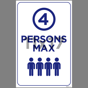Blue 4 Persons Max Poster English (EDU68)