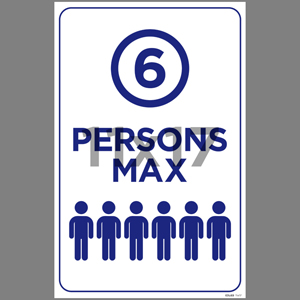 Blue 6 Persons Max Poster English (EDU69)