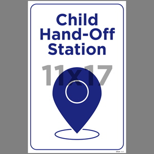 Blue Child Hand-Off Station Poster English (EDU81)