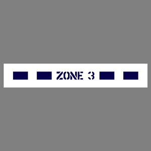 "Blue Zone 3 36""x6"" Self-Adhesive Decal English (JS4)"
