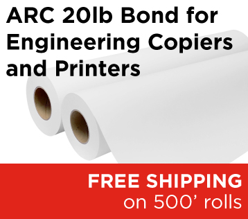 ARC 20lb Bond for Engineering Copiers and Printers
