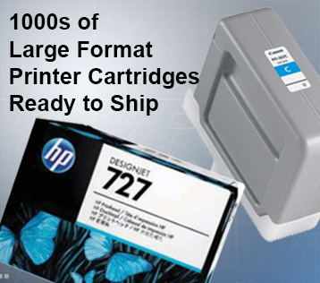 Large Format Printer Cartridges Ready to Ship